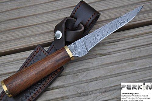 Perkin Knives - Custom Handmade Damascus Hunting Knife - Beautiful Boning Knife