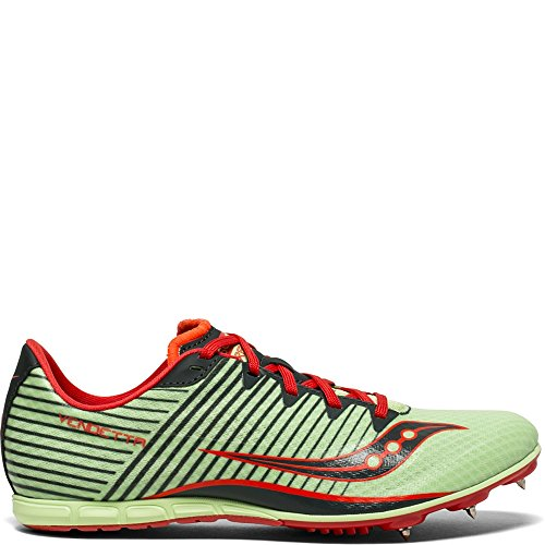 (Saucony Women's Vendetta 2 Track and Field Shoe, Green/red, 5 Medium US)
