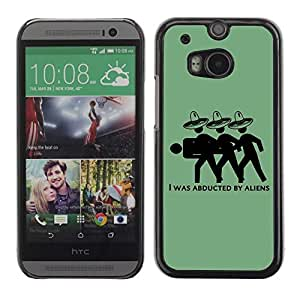 Colorful Printed Hard Protective Back Case Cover Shell Skin for All New HTC One (M8) ( Funny Mexicans Illustration )