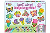Kreative Kids Bumper Mould and Paint Fridge Magnet Set - Make Your Own Glitter Garden Butterfly and Insect Fridge Magnets