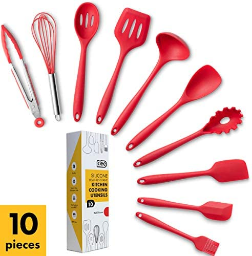 10 Piece Heat Resistant Silicone Cooking Utensil