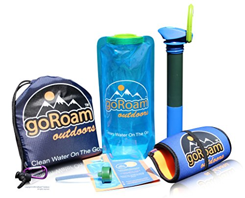 GoRoam-Outdoors-Collapsible-Water-Purifier-Bottle-2in1-Survival-Filter-Straw-Dual-UF-Hollow-Fiber-Carbon-Filter-Portable-Filtration-System-Perfect-for-Camping-Hiking-Emergency-Preppers-Travel
