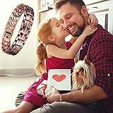 Feraco Solid Copper Bracelet for Men Arthritis Pain Relief Elegant 99.99% Pure Copper Jewelry Strong Magnetic Bracelets