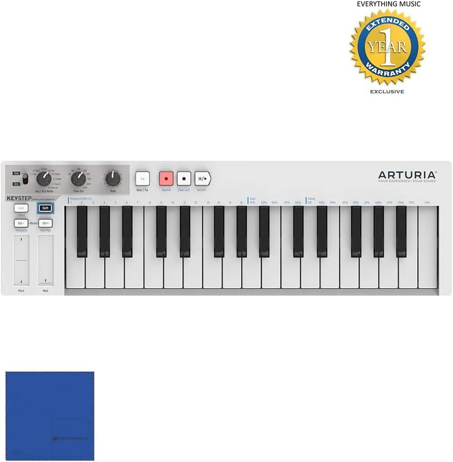Arturia KeyStep 430201 32-key Compact Keyboard Controller/Sequencer with Microfiber and Free EverythingMusic 1 Year Extended Warranty 51pRzmfQFiLSL1000_