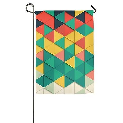 Amazon Com Geometric Triangle Garden Flag Indoor Outdoor