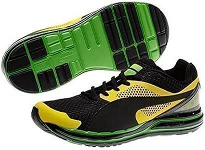 PUMA Faas 800 Jamaica Zapatillas para Correr - Amarillo/Negro/Verde, 37.5: Amazon.es: Deportes y aire libre