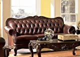 Classic Tri Tone Leather Sofa For Sale