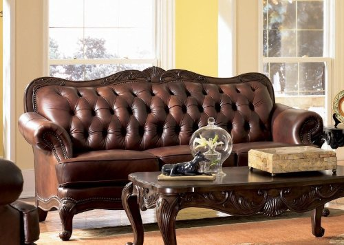 Classic Tri Tone Leather Sofa