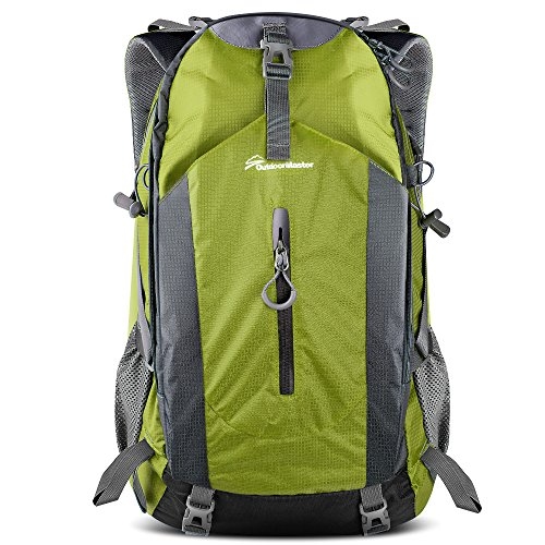 OutdoorMaster Hiking Backpack 50L - Hiking & Travel Carry-On Backpack w/Waterproof Rain Cover - for Hiking, Traveling & Camping - Green