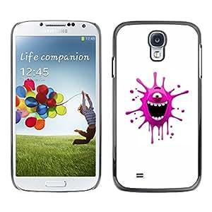 TECHCASE**Cubierta de la caja de protección la piel dura para el ** Samsung Galaxy S4 I9500 ** Funny Pink Monster