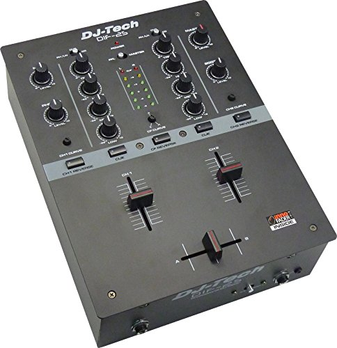 Learn More About DJ Tech DIF-2S full featured Mixer - Black