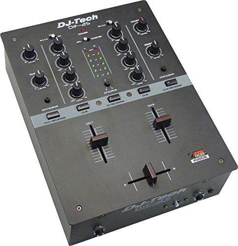 Black Dj Mixer - DJ Tech DIF-2S full featured Mixer - Black