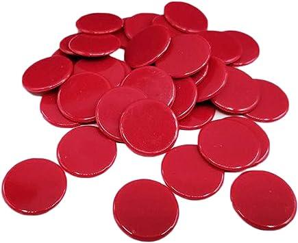 Bonarty 100pcs Juego de Mesa Fichas de Póker Plástico Monedas Color Sólido Juguete Divertido para Adultos - Rojo: Amazon.es: Juguetes y juegos