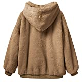 Womens Fluffy Fleece Fur Sweatshirt, Sunyastor