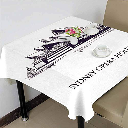 DRAGON VINES Tablecloths for Rectangle Tables Australia - 01.11.2018 Hand Drawn Sketch Style Sydney Opera House,Kitchen Banquet Table Cover Desktop Decoration 70 x 70 inch