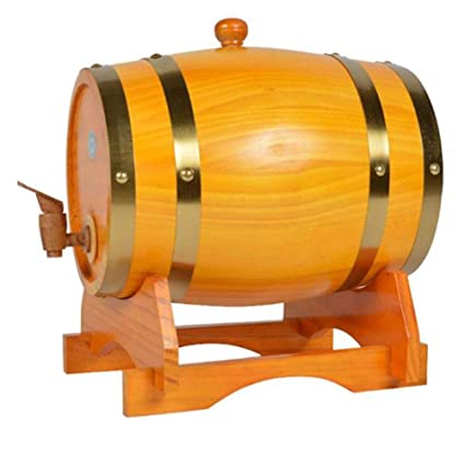 Z@SS Barriles De Madera De Vino, Barril De Almacenamiento De Pino Dispensador De