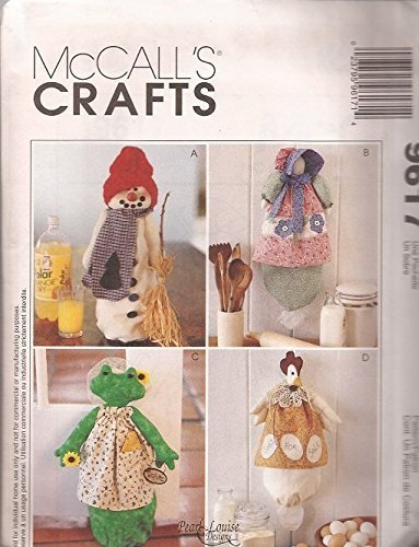 (McCall's Crafts Pattern-9617-Clutter Keepers-Snowman, Susan, Bonnet, Frong, Chicken)