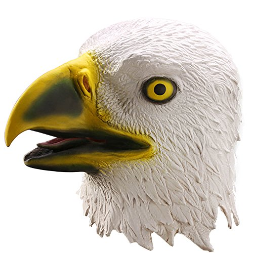 Ylovetoys Eagle Halloween Costume Mask Latex Animal Head Mask