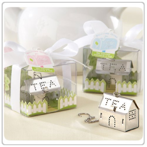 24x ''Welcome Home, Baby'' Tea Infuser (Boy or Girl) Wedding Favors and Baby Shower Favors