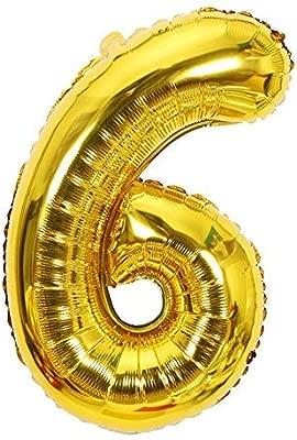 ShopVip Globos de cumpleaños - número 6 - Decoración ...