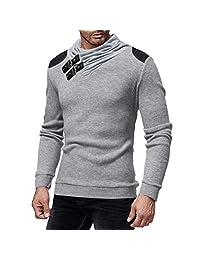 KJHSDNN Men's Casual Shawl Collar Knit Pullover Knitwear Tops