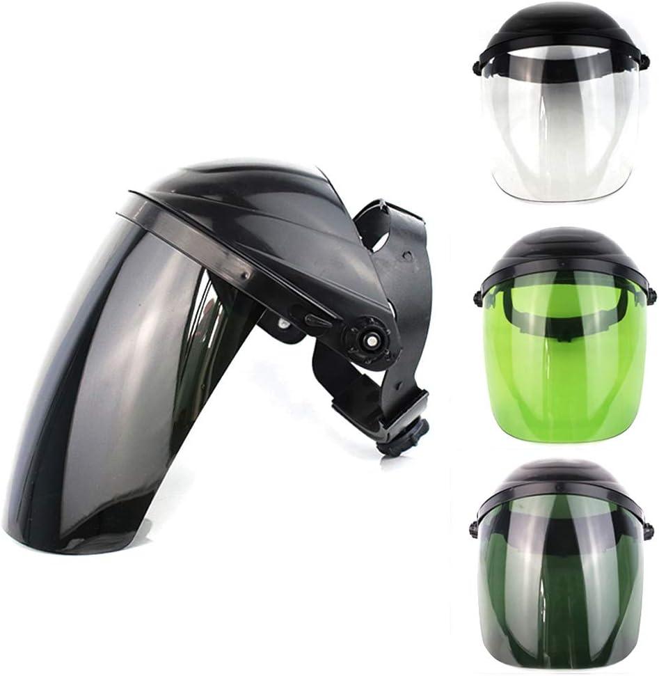 ZXYMUU 2 Piezas Protector Facial, Lavables Antivaho Antirayos UV, Antigolpes Face Shield, Esponja Cómoda Visera para Boca Y Nariz con Sonrisa Visible,Black Light Green Lens