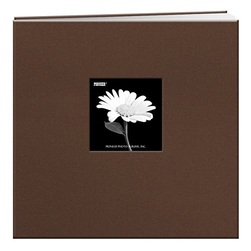 Pioneer 12 Inch by 12 Inch Postbound Frame Cover Memory Book, Chocolate Brown Scrapbooking Photo