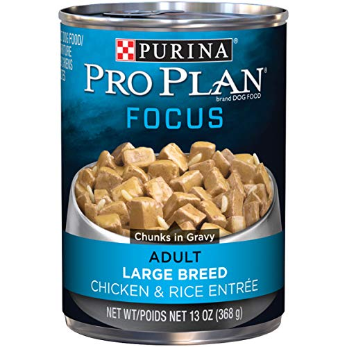 (Purina Pro Plan Large Breed Gravy Wet Dog Food; FOCUS Chicken & Rice Entree - 13 oz. Can, Pack of 12)