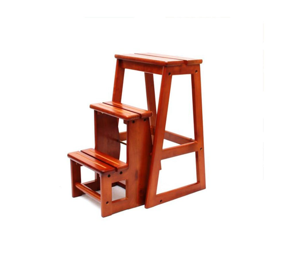 All solid wood three staircase stool / staircase stool / folding ladder chair / multi-functional home ladder