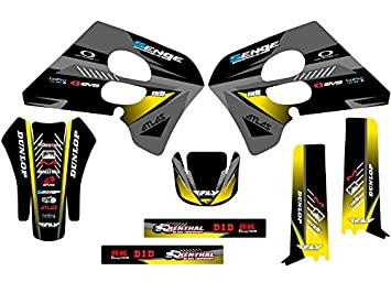 Amazon.com: Senge Graphics 1993-1995 Suzuki RM 125/250, Surge Black Graphics Kit: Automotive