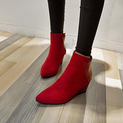 Moda Martin Boots Botines Botas Para Mujer,Cremallera,GJDE Red