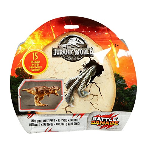 Multi Pack Mini (Jurassic World Fallen Kingdom mini Dino multipack 15 pack Battle Damage.)