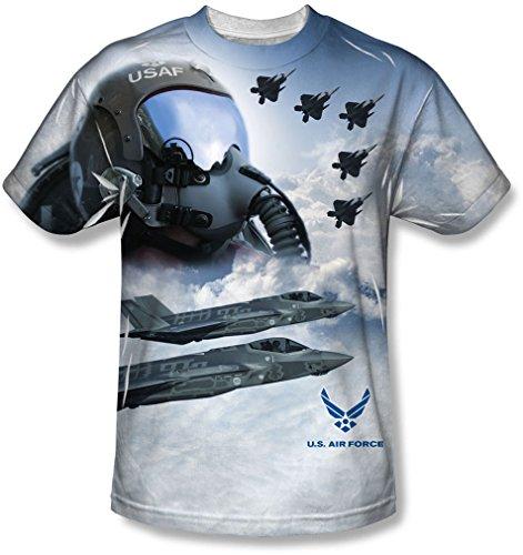 shirt Force Air da Pilot T bianca pilota pwqOdABA