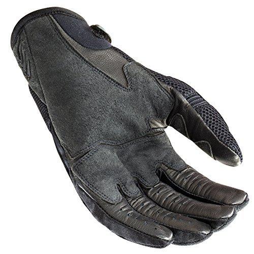 Glove Rocket Black Joe Mesh (Joe Rocket Skyline Women's Mesh Street Racing Motorcycle Gloves - Black/Black / Large)