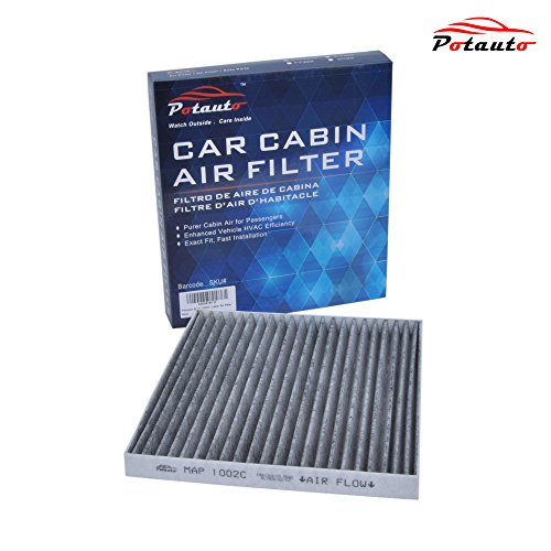 POTAUTO MAP 1002C Heavy Activated Carbon Car Cabin Air Filter Replacement compatible with Toyota, Corolla, Matrix