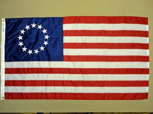 Betsy Ross 1776 Indoor Outdoor Sewn Nylon Historical Flag Gr