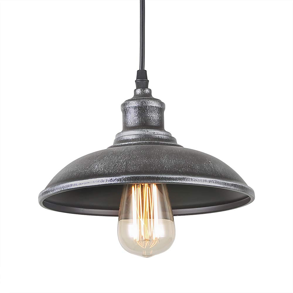 Giluta adjustable industrial barn pendant lighting of rustic vintage ceiling hanging light fixture with indoor antique edison style and retro look for