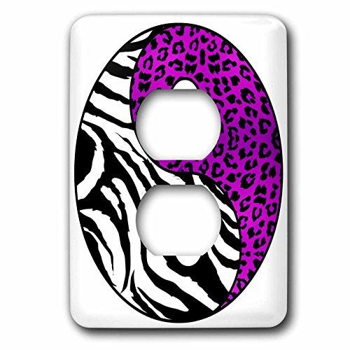 3dRose lsp_77608_6 Ying and Yang Symbol  Zebra and Leopar...