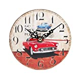 Clock,Tosangn Vintage Antique Style Silent Wooden Home Office Wall Clock (Style B)