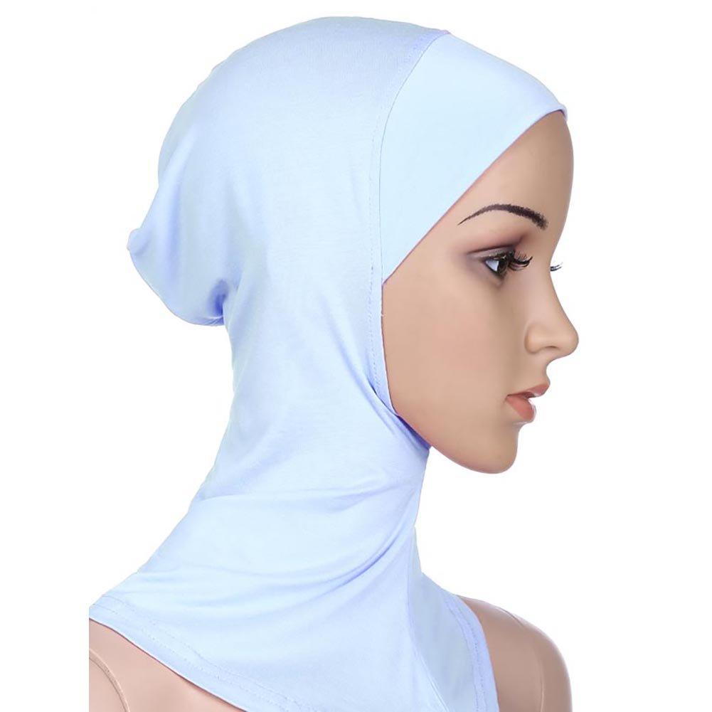 Free fisher musulmana hijab algodón pañuelo cabeza bufanda cuello islámica talla única adjustable co...