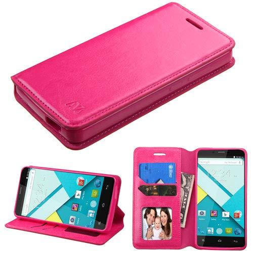 MyBat Wallet Case for BLU D810 (Studio Energy) - Retail Packaging - Pink (Studio Energy Blu)