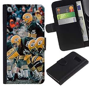 G Fútbol - la tarjeta de Crédito Slots PU Funda de cuero Monedero caso cubierta de piel Para Samsung Galaxy S6