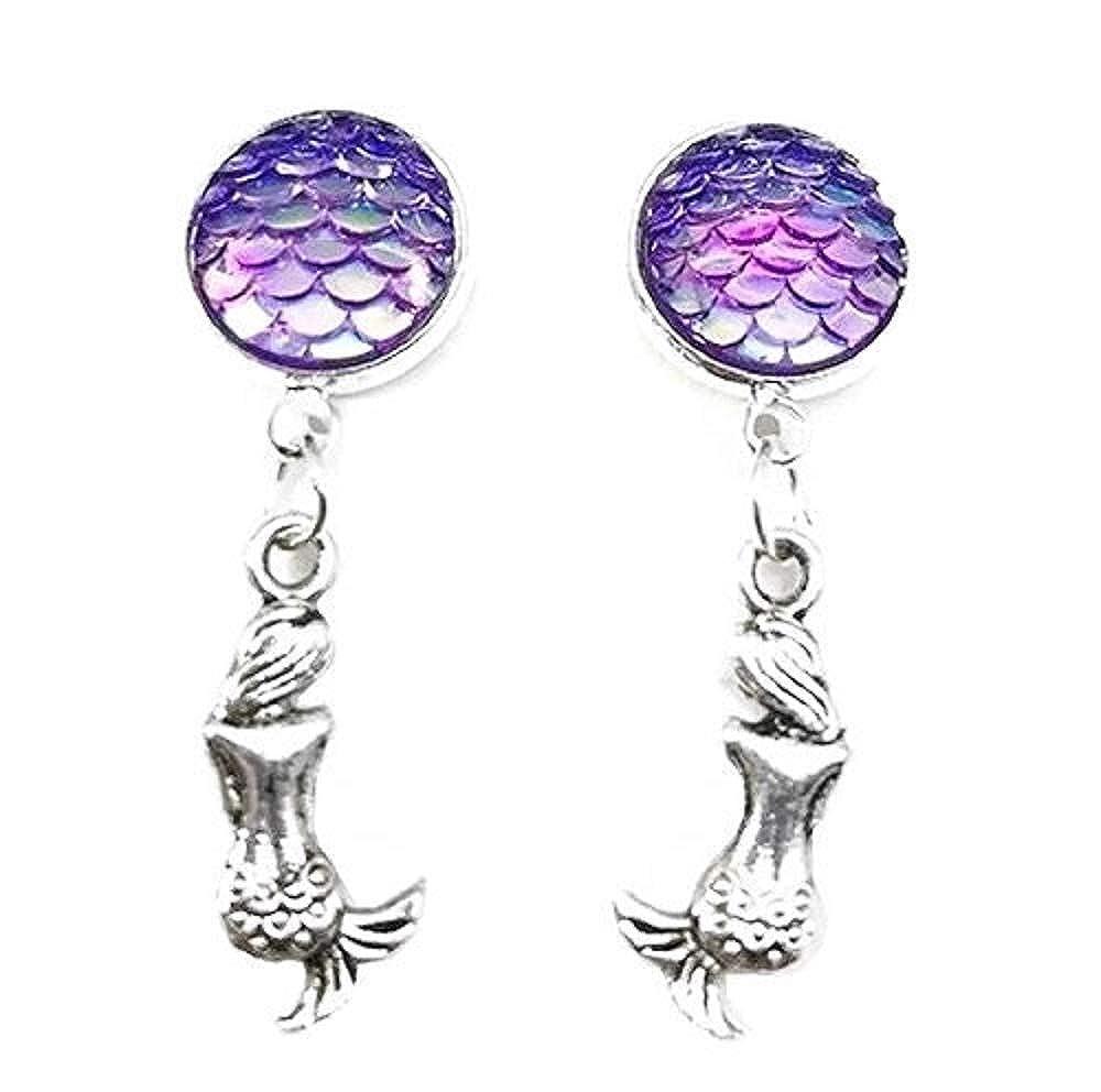 Pizazz Studios Mermaid Scale Dangle Earrings