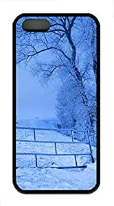 iPhone 5s Cases & Covers - Snow Scenery TPU Custom Soft Case Cover Protector for iPhone 5s - Black