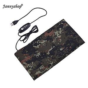 Jannyshop Tapis Chauffant pour Reptile USB Feuille de Chauffage Tapis Chauffant de Fibre de Carbone pour Amphibien (Type B, M) 2