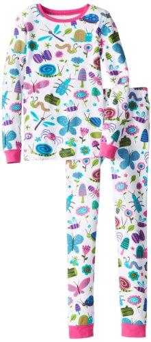 Hatley Big Girls' Girly Bugs Pajama Set