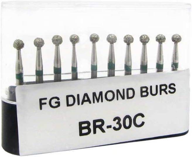50Pcs 1.6mm Carborundum Burr FG Diamond Burs Polishing Head BR-30C
