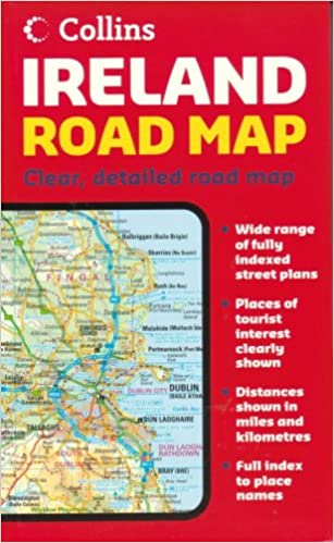 Map Of Ireland With Roads.Ireland Road Map Collins 9780007204229 Amazon Com Books