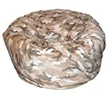Ahh! Products Camouflage Anti-Pill Fleece Tan Washable Large Bean Bag Chair