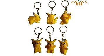 Amazon.com: Pokemon Pikachu Figura llavero 6 pieza set ...